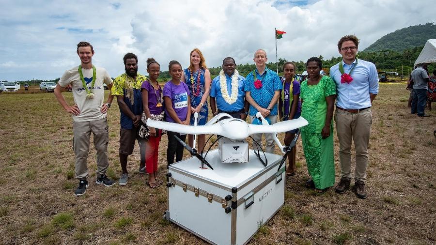 Drone usado pela Unicef para distribuir vacinas em Vanuatu - Unicef Pacific