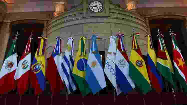 Bandeiras dos países participantes da cúpula do Mercosul - Divulgação