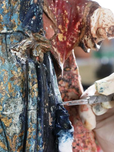 Imagens sacras ganham cores - Divulgação/Fundação Renova