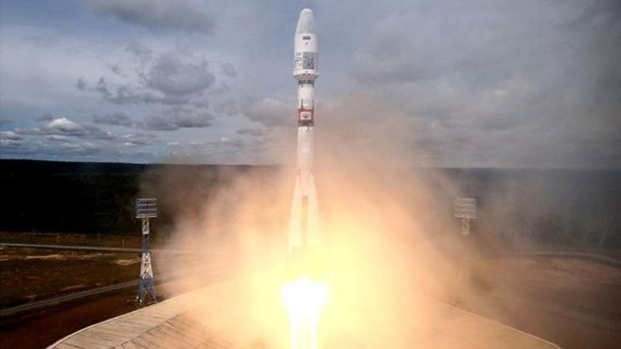 Um lançamento de foguete no cosmódromo de Vostochny, em julho deste ano; primeiro lançamento ocorreu em 2016 - GETTY IMAGES