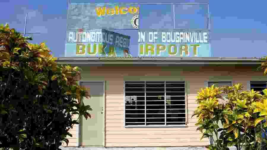 Aeroporto da região autônoma de Bougainville, na Papua Nova-Guiné - Eric Lafforgue/Gamma-Rapho via Getty Images