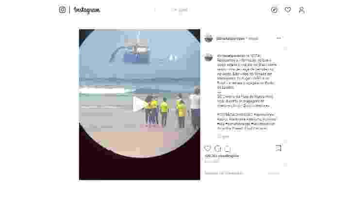 """11.dez.2019 - Post com vídeo original na página """"Diz não ao paredão"""" - Reprodução/Instagram"""