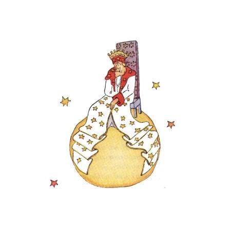 """Desenho do rei do planeta solitário de """"O Pequeno Príncipe"""" - Desenho de Saint-Esupéry/O Pequeno Príncipe"""
