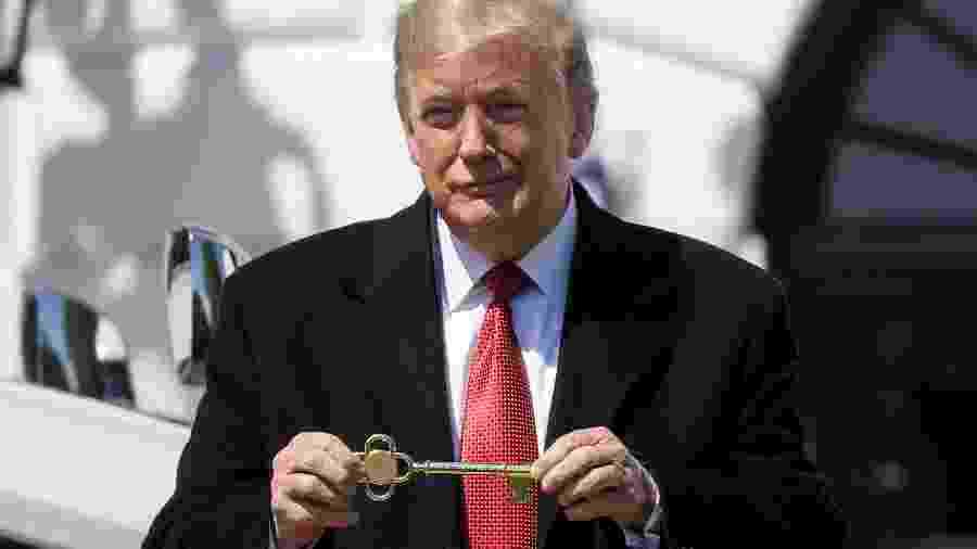 Presidente dos Estados Unidos, Donald Trump, durante evento na Casa Branca - LEAH MILLIS