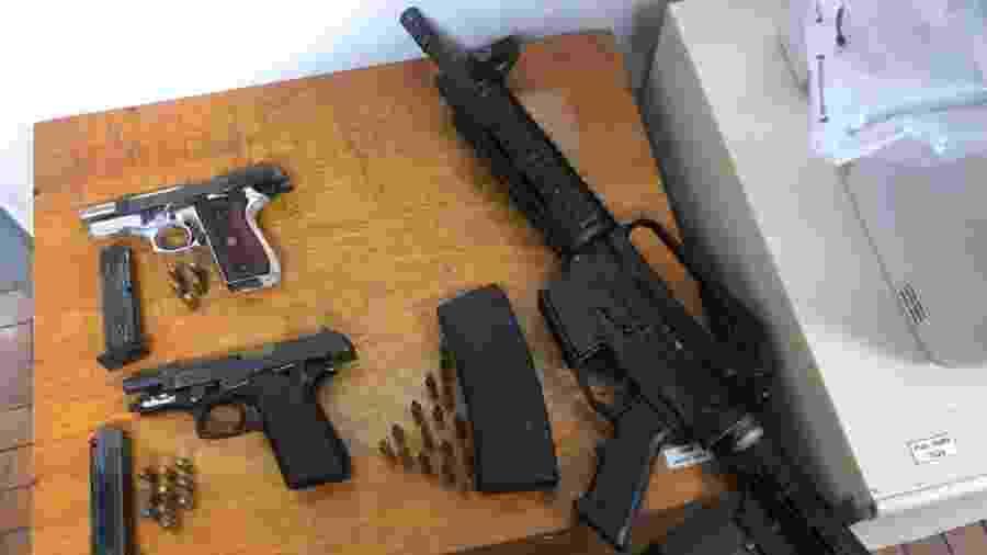 Armas apreendidas durante ocorrência na Zona Leste de São Paulo - Divulgação