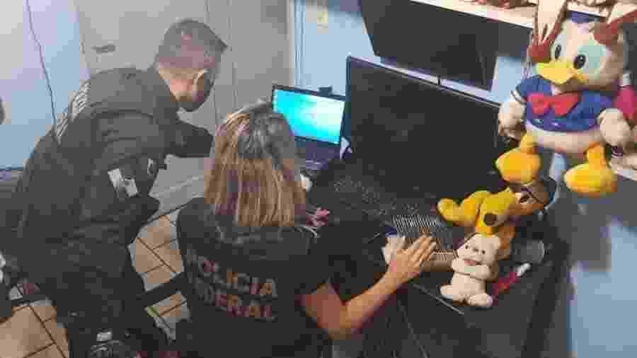 Polícia Federal deflagra a Operação Caçadores da Web, contra o abuso sexual infantil no Rio de Janeiro - Divulgação/Polícia Federal
