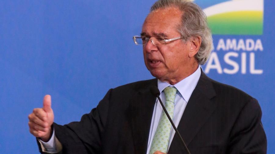 O ministro da Economia, Paulo Guedes, acredita que queda no PIB de 2020 será menor do que a esperada - Wallace Martins/Futura Press/Estadão Conteúdo