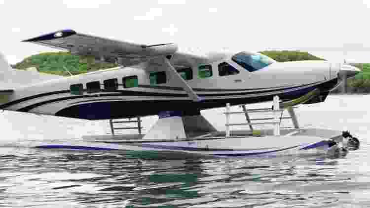 Adaptação permite ao Caravan pousar e decolar na água - Divulgação - Divulgação