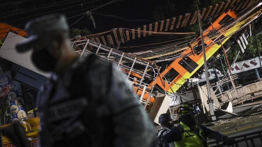 Presidente do México promete investigar a fundo acidente no metrô da capital - Pedro Pardo/AFP