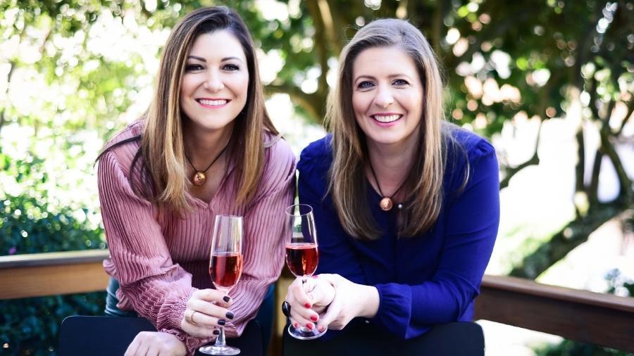 Juciane Doro (à esq.) e Andreia Milan são donas da Amitié, marca de vinhos e espumantes - Divulgação