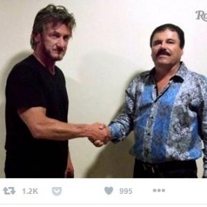 """Sean Penn (esq) e """"El Chapo"""""""