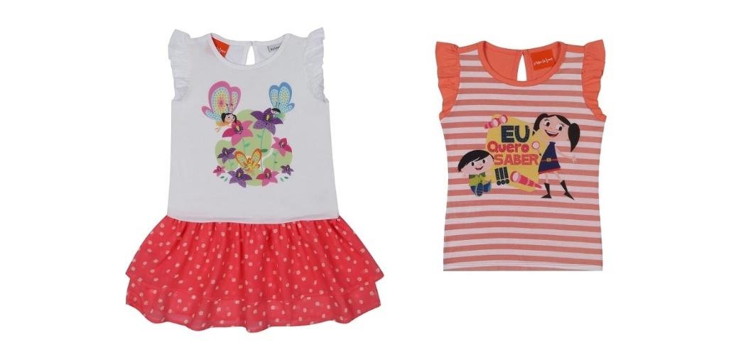 A rede de lojas Riachuelo criou uma linha com 17 produtos para meninas, entre camisetas, saias, vestidos e leggings, com imagens do desenho O Show da Luna