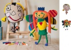 Seu filho gosta de desenhar? Empresa transforma a criação em boneco de pano - Divulgação
