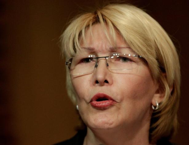 A procuradora-geral da Venezuela, Luisa Ortega, em Caracas