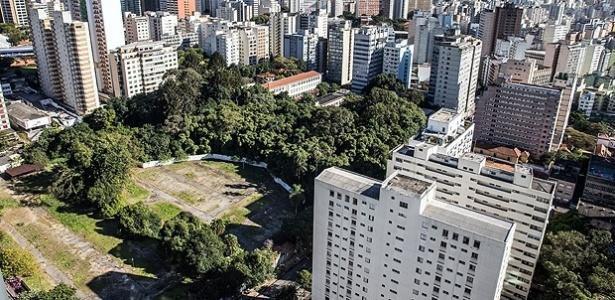 Área do Parque Augusta, na região central de São Paulo - Danilo Verpa/Folhapress