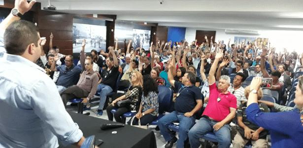 9.jan.2018 - Policiais civis do RN decidem encerrar paralisação