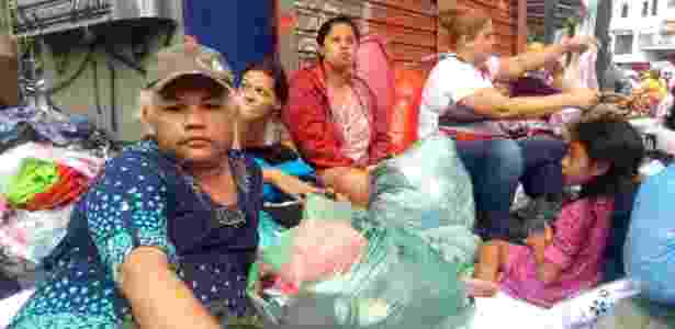 Thabhatha Marques Freire (e) era uma das moradoras do prédio que pegou fogo e desabou no centro de São Paulo no dia 1º de maio - Wanderley Preite Sobrinho/UOL - Wanderley Preite Sobrinho/UOL