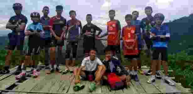 Grupo de 12 garotos entrou em uma enorme rede de cavernas na Tailândia em 24 de junho - Facebook/Ekatol - Facebook/Ekatol