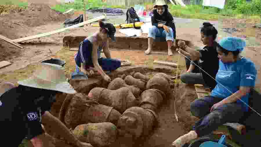 Arqueólogos descobrem cemitério indígena de 500 anos na Amazônia - Divulgação/Instituto Mamirauá