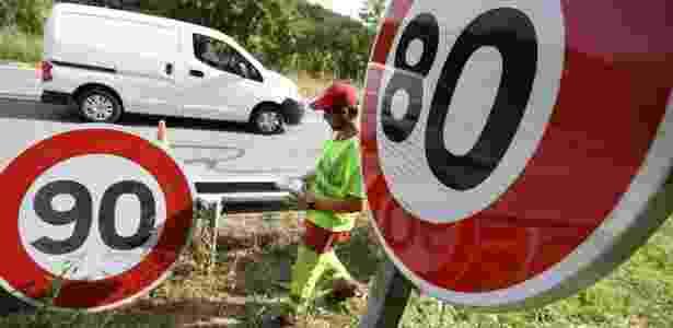 1.jul.2018 - Diversas rodovias tiveram sua velocidade máxima permitida reduzida na França - Sebastien Bozon/AFP - Sebastien Bozon/AFP