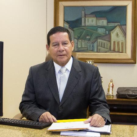 21.jan.2019 - Com viagem de Bolsonaro a Davos, o general Hamilton Mourão assume o exercício da Presidência da República - Romério Cunha/VPR