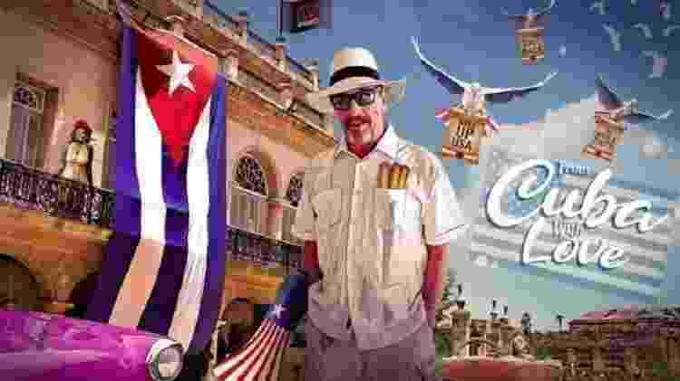 Cartaz de campanha para as eleições dos EUA que McAfee publicou em Cuba - TWITTER/@OFFICIALMCAFEE