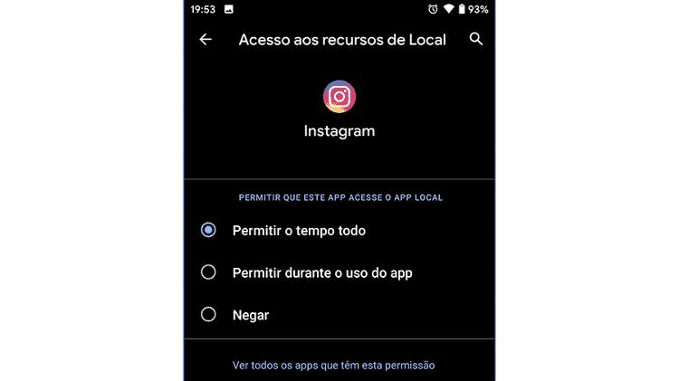 Android 10: opções novas de privacidade - Reprodução - Reprodução