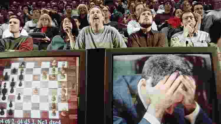 A vitória do computador Deep Blue sobre Garry Kasparov, em 1997, foi um marco para o desenvolvimento da inteligência artificial - Getty Images - Getty Images