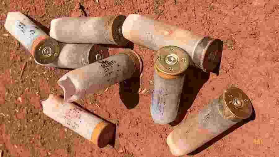 Cartuchos usados em ataque contra aldeia Nhu Vera Guasu em Mato Grosso do Sul - Paulo Ângelo de Souza