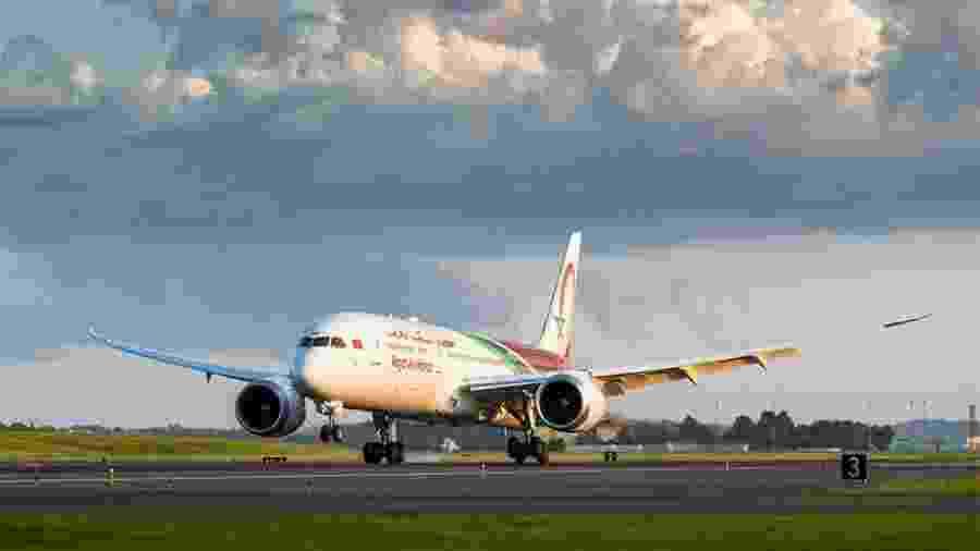 Registros foram feitos em aeronave da Royal Air Maroc no último mês de outubro - Royal Air Maroc/Divulgação