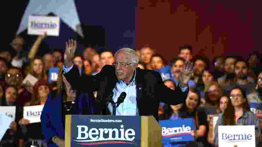 "22.fev.2020 - Bernie Sanders, democrata americano - Callaghan O""hare/Reuters"