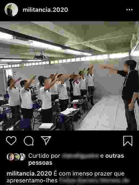 Alunos de escola particular do Recife fazem saudação nazista durante campanha para orador de turma - Reprodução/Redes Sociais