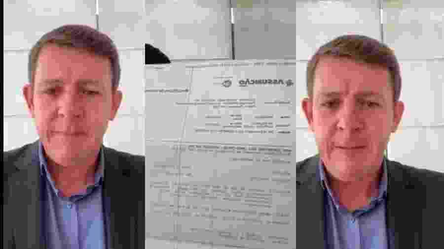 No último dia 25 de março, Orlando Morando (PSDB), prefeito de São Bernardo do Campo, mostrou diagnóstico de coronavírus - Reprodução/Instagram