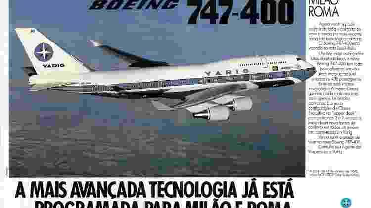 747 Varig anúncio - Reprodução - Reprodução