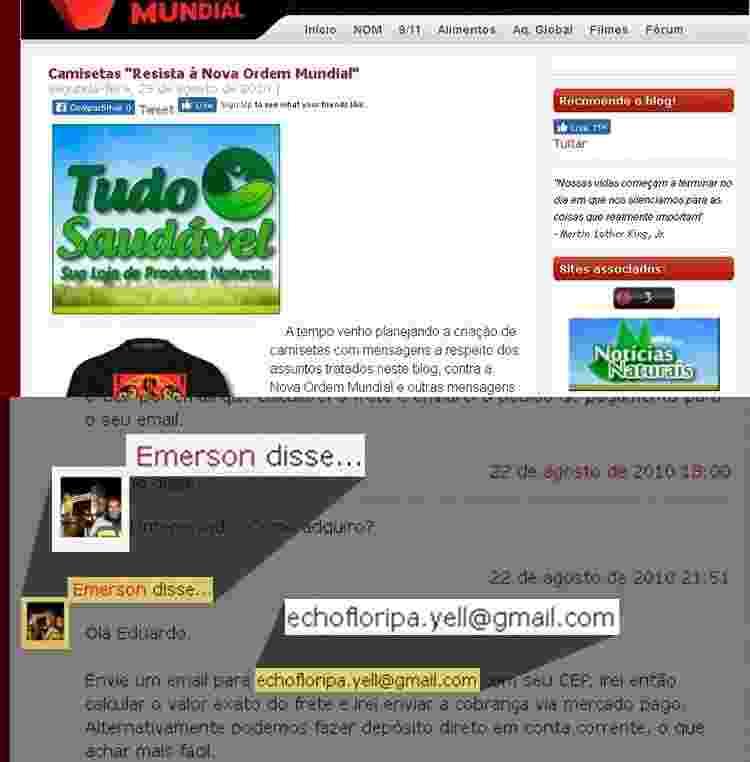 destaque site emerson e e-mail - Arte/UOL - Arte/UOL