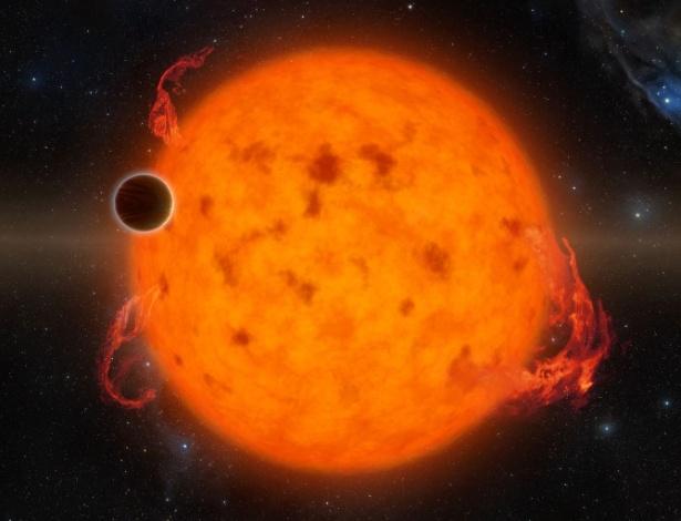 Ilustração mostra o exoplaneta K2-33b