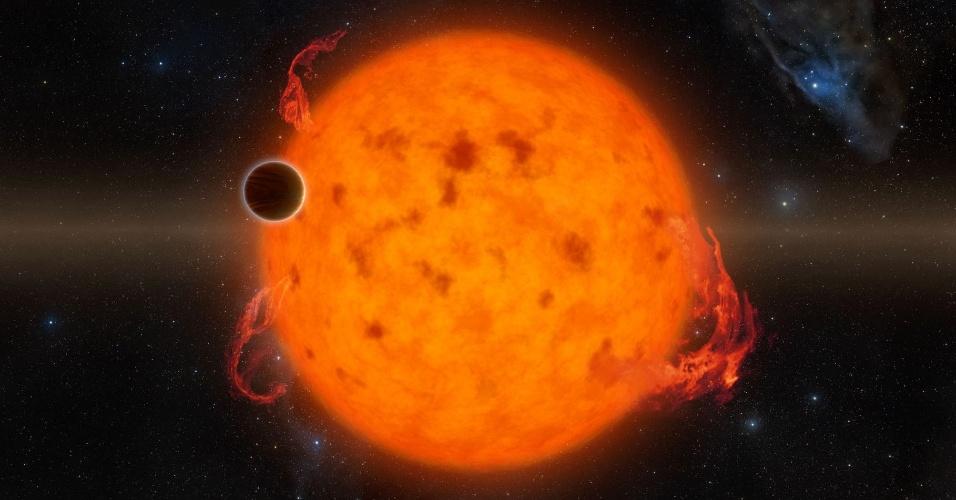 20.jun.2016 - Ilustração mostra o exoplaneta K2-33b, um dos mais novos já encontrados