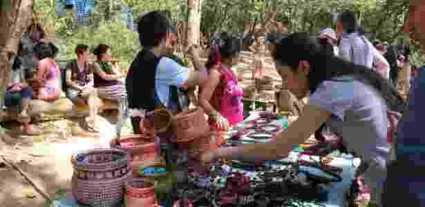 Metade dos adultos guaranis está desempregada; boa parte deles sobrevive do Bolsa Família ou da venda de artesanato - Adriana Toffetti/A7 Press/Estadão Conteúdo - Adriana Toffetti/A7 Press/Estadão Conteúdo