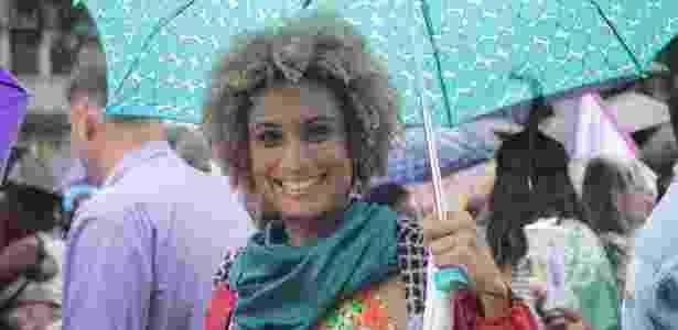 Marielle Franco em ato do Dia Internacional da Mulher no Rio de Janeiro - Thais Alvarenga/Facebook - Thais Alvarenga/Facebook