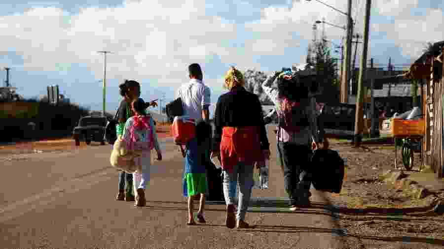 Brasil recebeu parte dos refugiados venezuelanos, mas a maioria foi para a Colômbia - Edmar Barros/Futura Press/Folhapress
