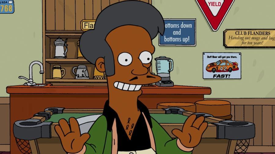 Apu, personagem dos Simpsons criticado por estereotipar a comunidade indiana nos EUA - Reprodução