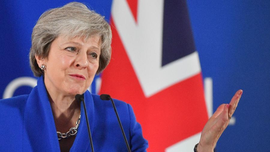 A primeira-ministra britânica, Theresa May - EMMANUEL DUNAND/AFP