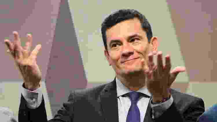 O ministro da Justiça e Segurança Pública, Sergio Moro durante audiência na Comissão de Constituição e Justiça do Senado (CCJ), em Brasília  - Fátima Meira/Futura Press/Estadão Conteúdo - Fátima Meira/Futura Press/Estadão Conteúdo