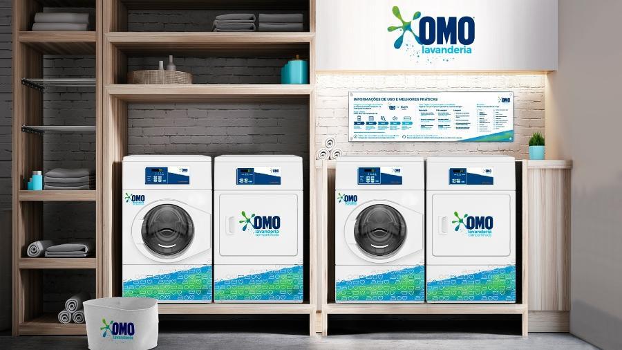 A OMO Lavanderia Compartilhada é um autosserviço de lavanderia instalado em condomínios, flats e hospedagens - Divulgação