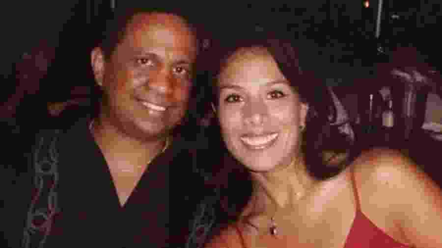 O ex-boxeador Ramon Sosa com a ex-mulher, Lulu - Reprodução