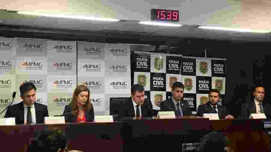 Entrevista coletiva sobre o encerramento da investigação do rompimento da Barragem de Brumadinho por parte da Polícia Civil e Ministério Público de Minas Gerais - Daniela Mallmann/UOL