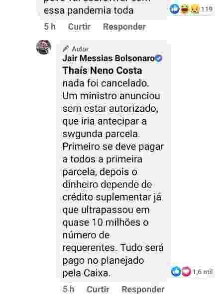 Jair Bolsonaro desautoriza Onyx - Reprodução - Reprodução