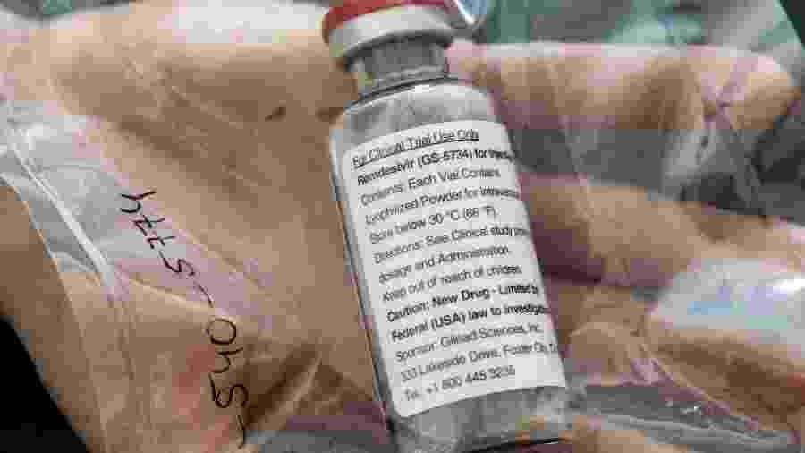 Recipiente de medicamento remdesivir - POOL New