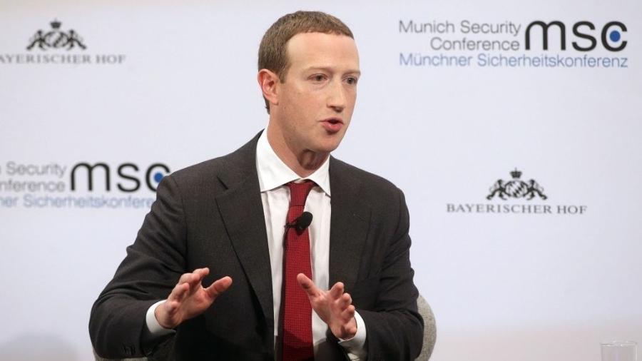 Mark Zuckerberg, diretor executivo do Facebook, em evento na Alemanha  - Johannes Simon/Getty Images