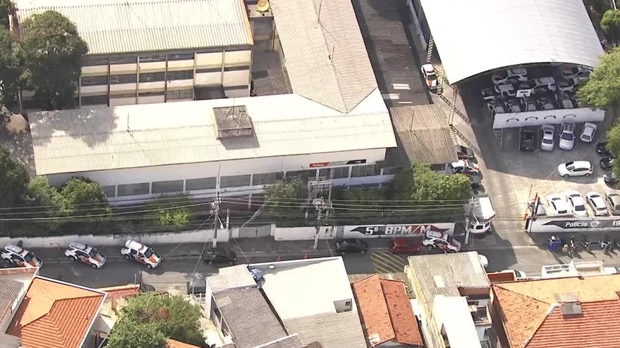 Corregedoria da PM cerca batalhão em São Paulo em operação com o MP - Reprodução/TV Globo